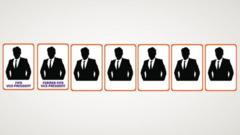 Graphic showing seven Fifa executives in silhouette