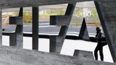 Fifa logo at its headquarters