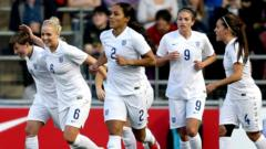 England women's football team players