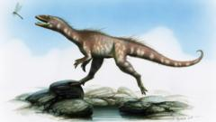 Artist's reconstruction of a theropod dinosaur based on fossils found in south Wales