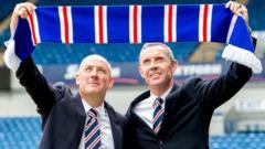 Mark Warburton and David Weir at Ibrox