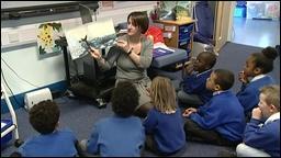 Primary school children in a lesson