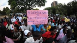 Protesto en Gaborone, Botswana