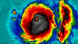 Foto feita pela NASA a partir de lentes infravermelhas na qual há uma imagem similar a um crânio