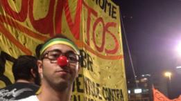 Manifestante em protesto de 2013