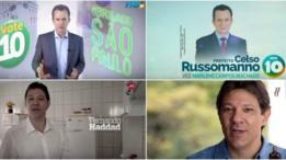 Russomano e Haddad em propagandas eleitorais