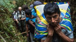 Expedição percorre a selva peruana