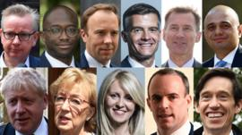 The 11 candidates for Conservative Party leader