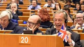 Nigel Farage with Union Jack
