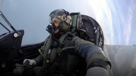 John Beale in a typhoon jet.