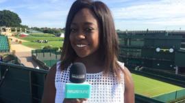 Ayshah at Wimbledon