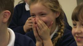 Girl reacts to winning World Book Day competition