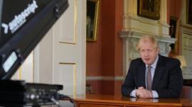 威兹曼汽车报价Boris Johnson delivering his address to the nation