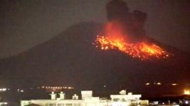 The Sakurajima volcano on the island of Kyushu in Japan has started erupting.
