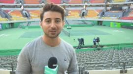 Ricky at one of the Olympic venues