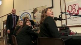 Pupils at Sandringham School in St Albans