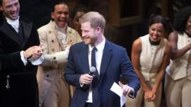 The Duke and Duchess of Sussex attend a charity performance of the hit musical in London's West End.