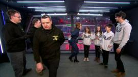 'Sore loser' storms off Robot Wars