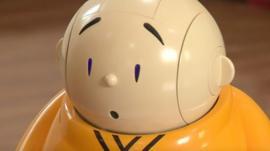 Head shot of Xian'er the robot monk