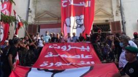 مظاهرات حاشدة في بيروت والجيش اللبناني يتدخل لاستعادة مقار حكومية