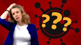 The BBC's Laura Foster next to a question mark graphic