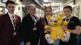 School Reporters and Pudsey