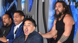 Stars perform the haka at Aquaman premiere