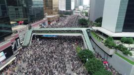 Protests in HK on 12 June against extradition bill