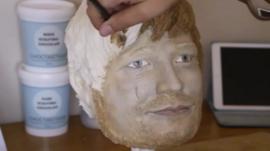 Ed Sheeran in cake form