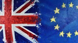 UK, EU flag