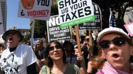 Tax protesters in Berkeley
