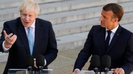 Boris Johnson and Emmanuel Macron