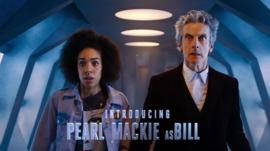 Pearl Mackie and Peter Capaldi