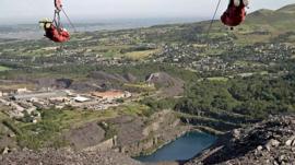 British stuntman, Nicholas Daines, on world's fastest zip line