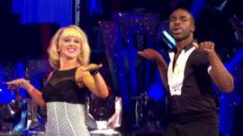 Ore used to present on Newsround, now he's at BBC sport but you can see him on a pretty famous dance floor as well.