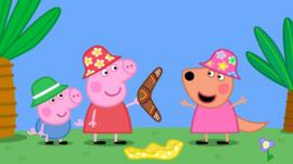 Peppa Pig star Harley Bird on 10 years oinking - BBC News