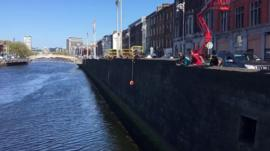 Cat rescued from River Liffey