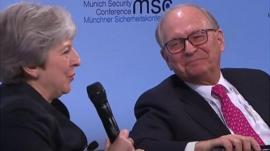 Theresa May and Wolfgang Ischinger