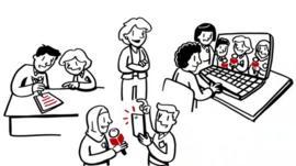 Animation of School Reporters