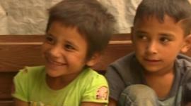 Children in refugee camp in Lebanon
