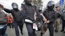 russia arrest