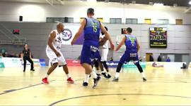 A British Basketball League game between Sheffield Sharks and Newcastle Eagles