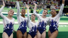 Team GB Olympic gymnasts