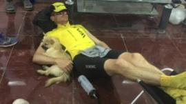 Dion and Gobi resting