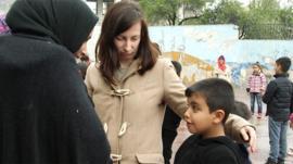 Moustafa starting school in Greece
