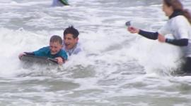 Surf therapy for children