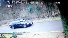 CCTV of car