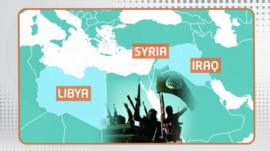 Islamic State or IS operates out of Syria, Iraq and Libya