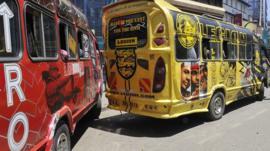 Buses in Kenya (file image)