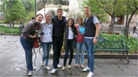 School Reporters Miguel, Marco, Natalia, Mariana, Maria, and Sofia